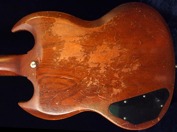 Playwear, especially on a vintage guitar, may not be reason to refinish a guitar